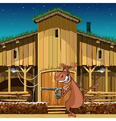 cartoon character smiling moose standing vector image