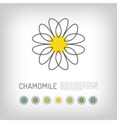 Chamomile thin line art icon isolated daisy logo vector image vector image