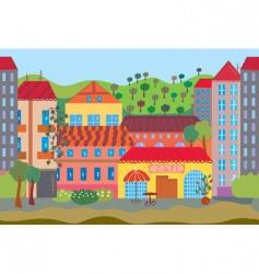 city cartoon seamless vector image