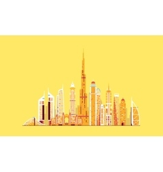 Dubai abstract skyline vector image