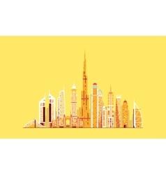 Dubai abstract skyline vector image vector image