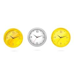 gold and silver clocks set vector image