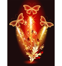Magical glow flowers vector image vector image