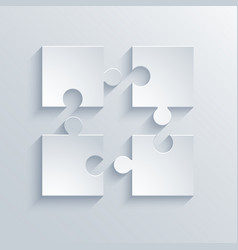 modern puzzle icons background vector image vector image
