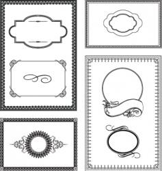 ornate frame set vector image vector image