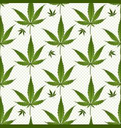 seamless pattern medical marijuana green leafs vector image vector image