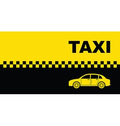 taxi background vector image