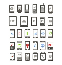 Abstract different mobile gadgets vector image vector image
