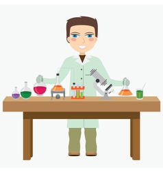 Chemist in the labotatory vector image vector image