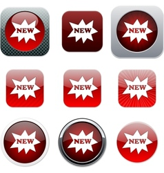 New red app icons vector image