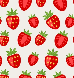 Seamless Texture of Ripe Strawberry vector image vector image