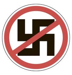 Sign of ban fascism vector