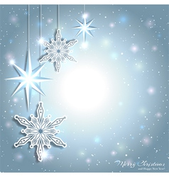 Sparkling Christmas Star Snowflake Background vector image vector image