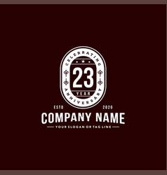23 years anniversary celebration design vector