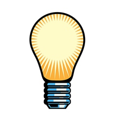 A view of light bulb vector