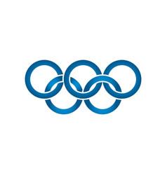 abstract blue circle logo icon design template vector image