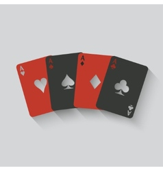 aces card set vector image