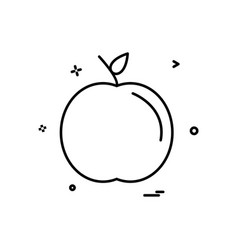 apple school icon design vector image