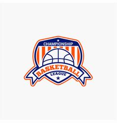basketball club badge logo-2 vector image