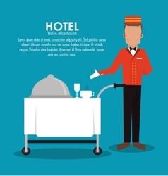 Bellboy menu hotel service icon vector
