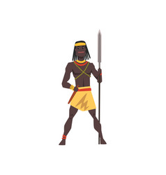 Black native man african tribe weraing vector