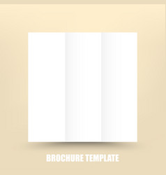 blank tri-fold paper brochure design template vector image