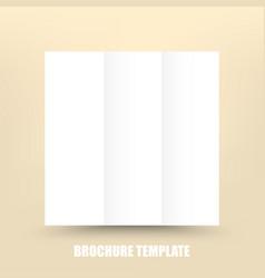 blank tri-fold paper brochure design template vector image