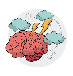 Brain idea creativity innovation thinking vector