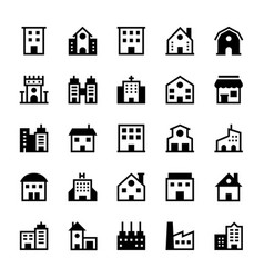 Buildings icons 1 vector