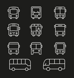bus line icon editable stroke vector image