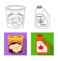 Can and food sign vector