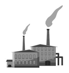 Chemical plant icon gray monochrome style vector