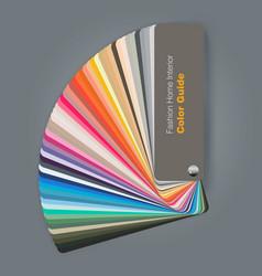 Color palette guide for fashion interior designer vector