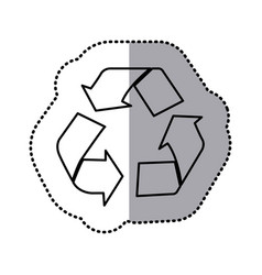 Contour recycle sign icon vector