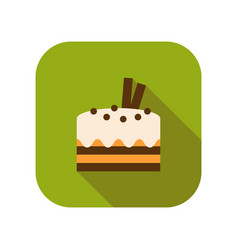 Cupcake flat colored icon of dessert or baking vector