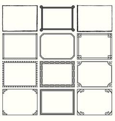 decorative simple frames set 11 vector image