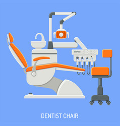 Dentist chair concept vector
