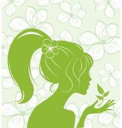 Eco flower girl vector