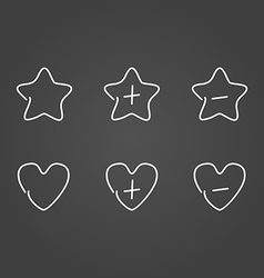 Favorite set icons draw effect vector
