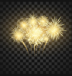 festival firework colorful fireworks holiday vector image