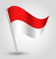 Flag monaco vector