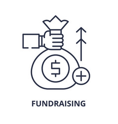 fundraising line icon concept fundraising vector image