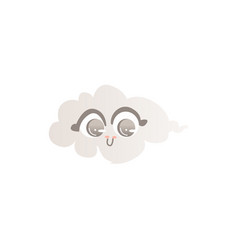 funny cloud character with smiling human face vector image