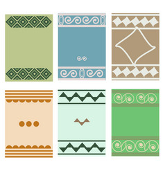 greeting cards with geometric motifs vector image