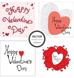 Hand sketched heart background vector image