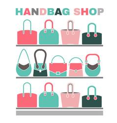 Handbag shop image vector