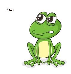 Happy frog fly vector
