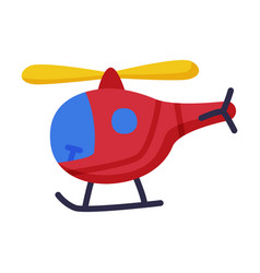 Helicopter batoy cute object for kids vector