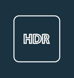 High dynamic range icon line symbol premium vector