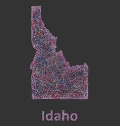 Idaho line art map vector image